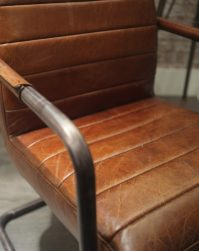 Iron Framed Leather Chairs - Cambrewood