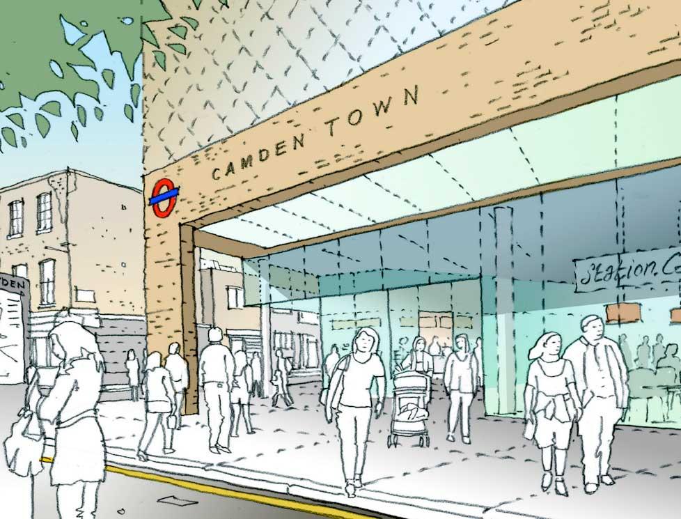 Long overdue Camden Town tube upgrade
