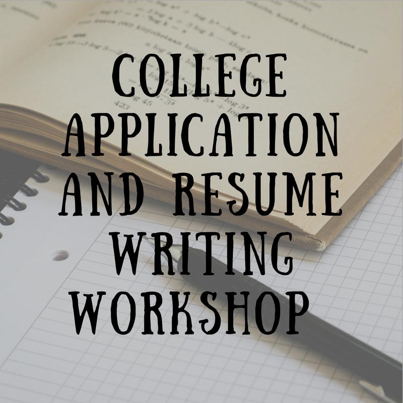 College Application/ Resume Prep Workshop Registration Now Open
