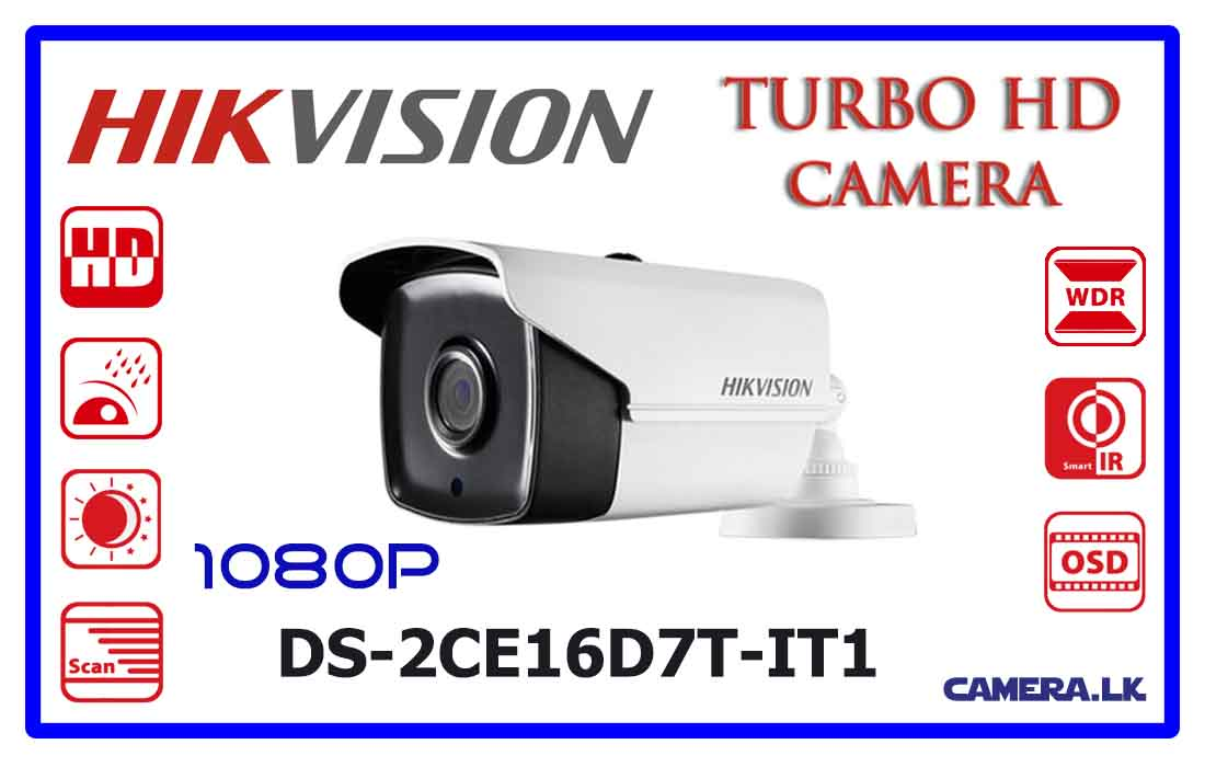Coax Signaal Tester Hikvision Ds-2ce16d7t-it1 Turbo Hd Cctv Camera In Colombo