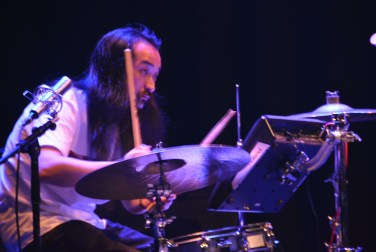 Drummer MONNA Akihide at the Festive Opening