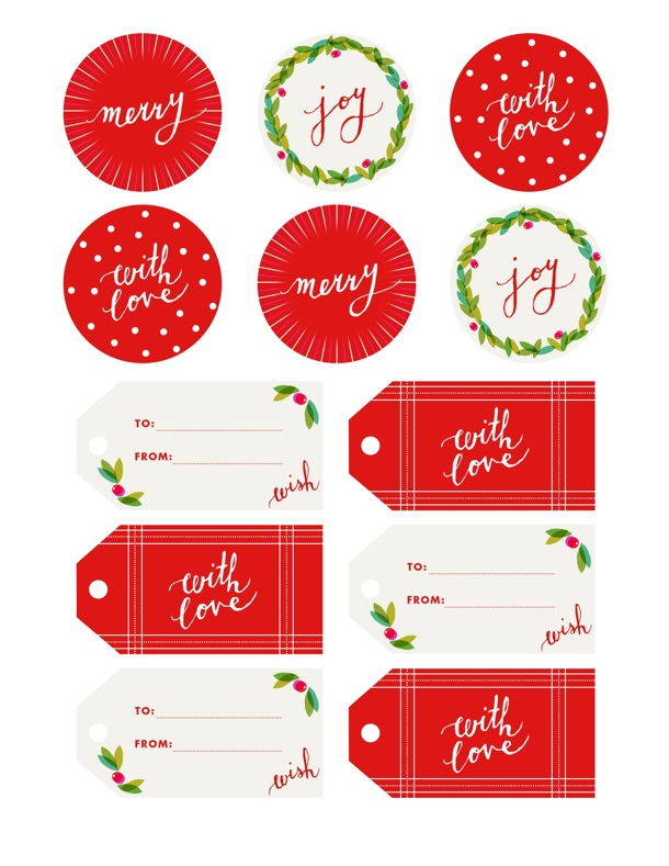 Fine Print  Holly Jolly Gift Tags - Camille Styles