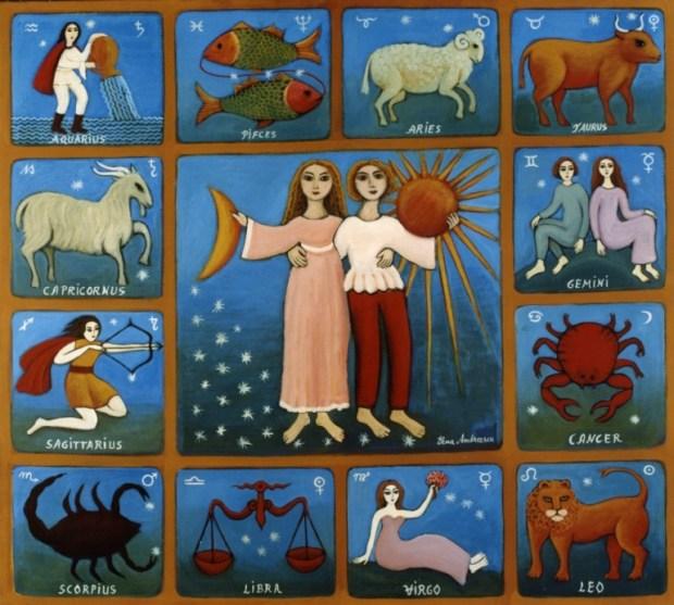lo-zodiaco-con-il-sole-e-la-luna-tela-90x100