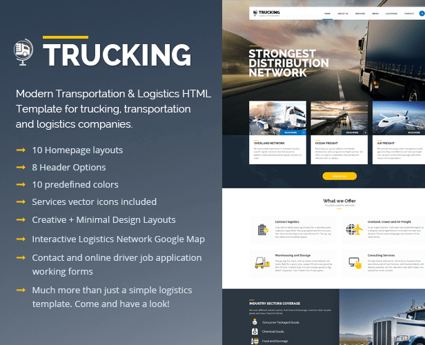 Sample Company Profile 7 Documents In Word Pdf Trucking Transportation And Logistics Html Template By Pixel