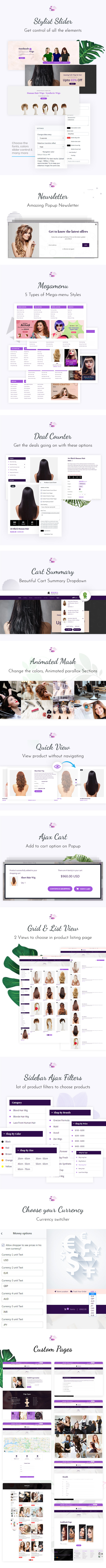 Muhil Hair Salon Extension Hairdresser Shopify Theme By Buddhathemes