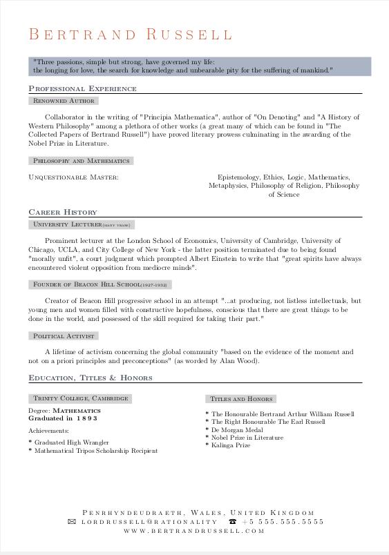 the best resume template github