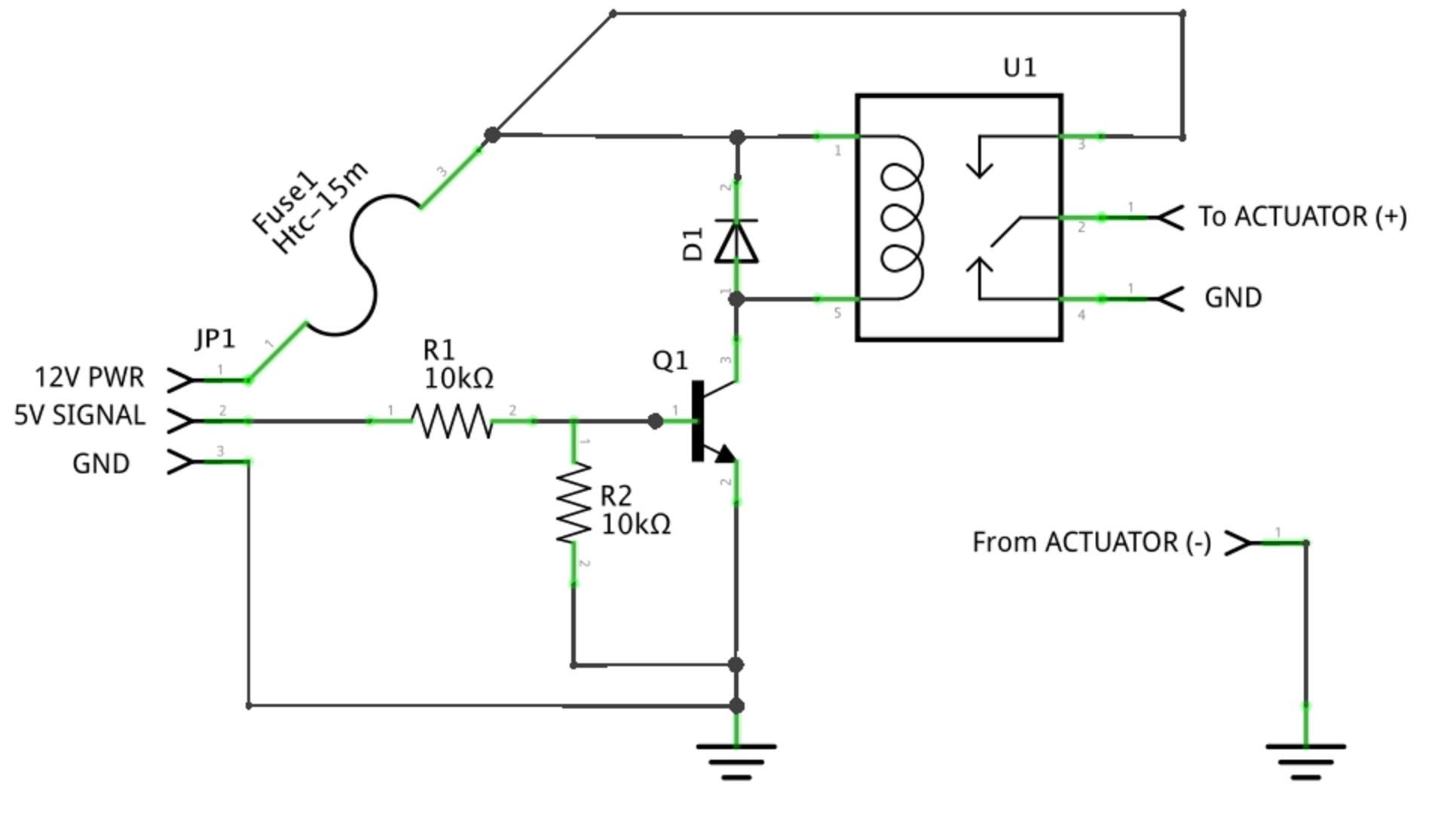 12 volt relay transistor