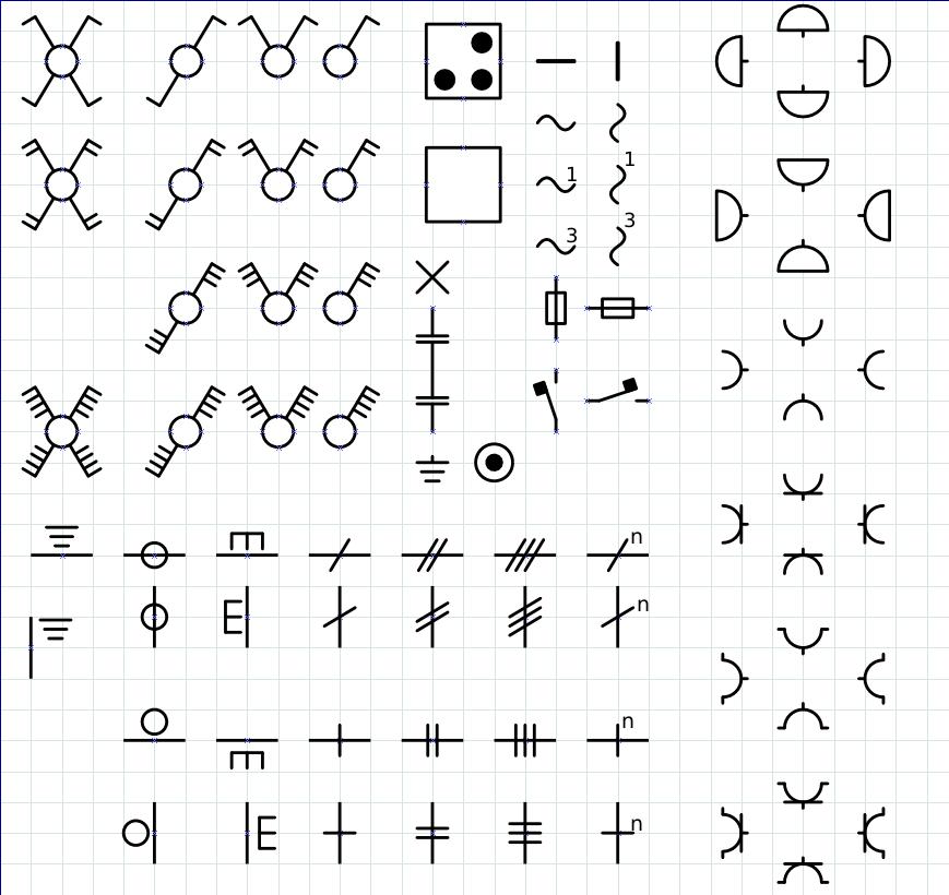 electrical symbol shapes