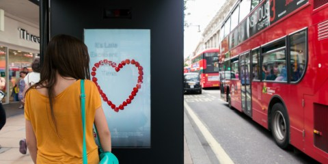 Press Launch of M&C Saatchi, Artificial Intelligence Poster, Oxford Street London, July 21st 2015. ©Laurence Gibson
