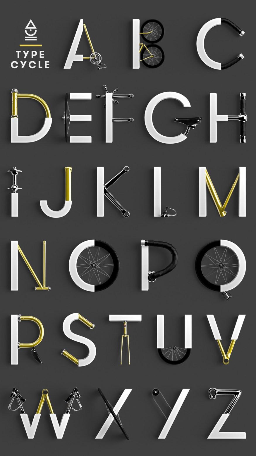 Cycle-Typeface-marcelpiekarski-poster-cotw