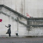 Bansky girl balloon
