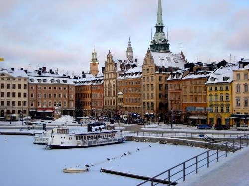 Stockholm in the winter. Pretty much the view from my window.