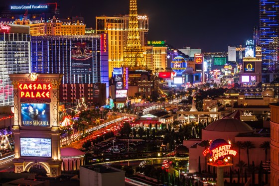 Las Vegas Strip - I bet it has the highest concentration of hotel rooms anwyhere in the world