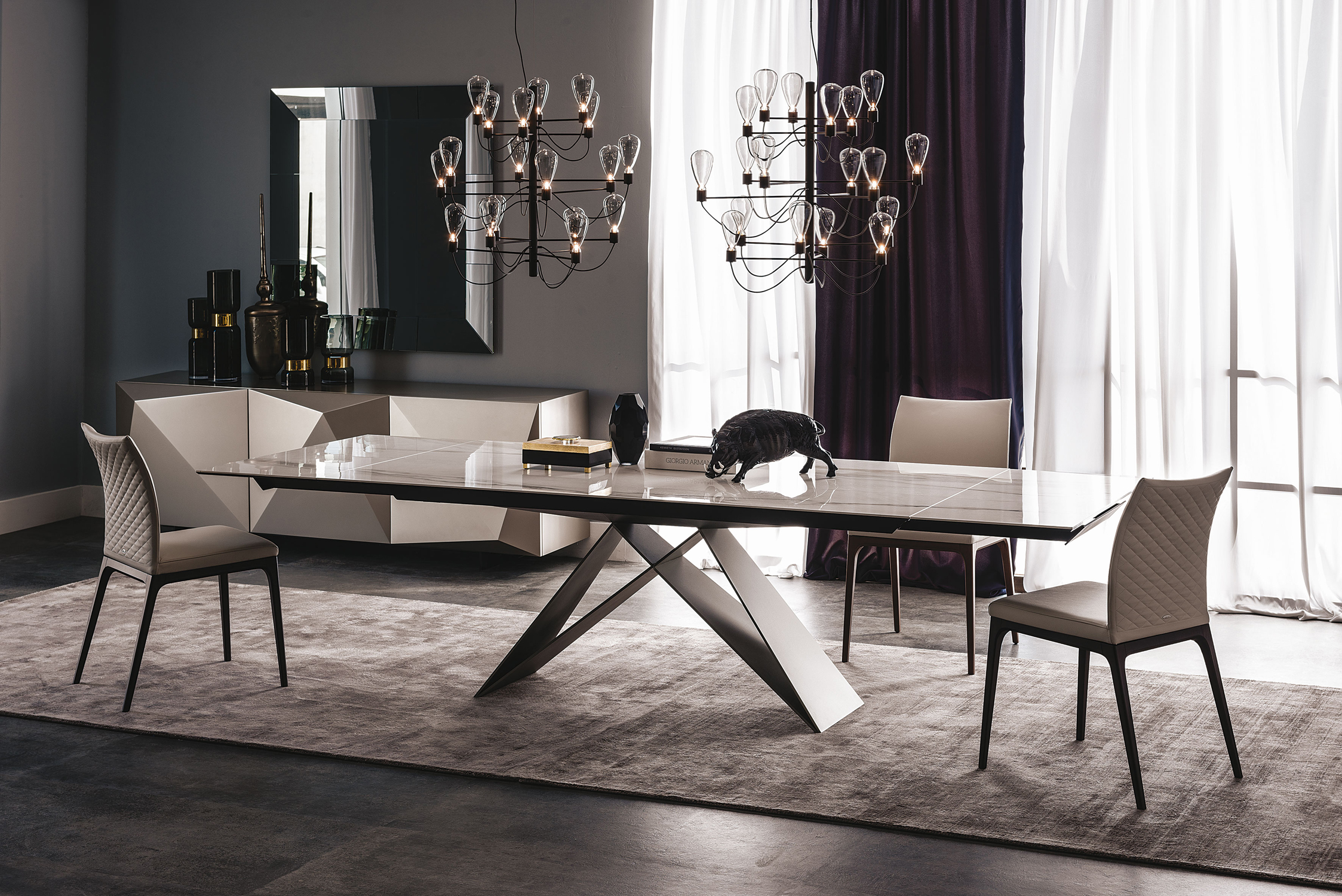 Teppiche Outlet Cattelan Italia Premier Drive Ceramic Table | Buy From