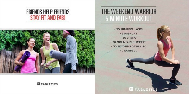 Fabletics Activewear from Kate Hudson and Justfab - via Campfire Chic