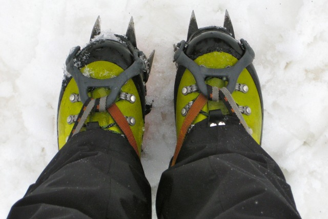 Boots with Wool Socks for Ice Climbing - What to Wear When Ice Climbing - Campfire Chic