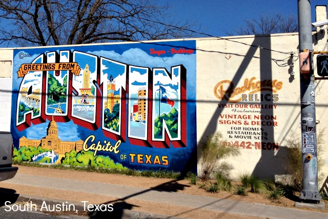 Iconic Greetings from Austin Mural - Campfire Chic