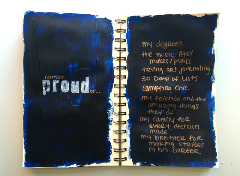 Messy LIsts Week 4 Art Journaling Challenge - Campfire Chic