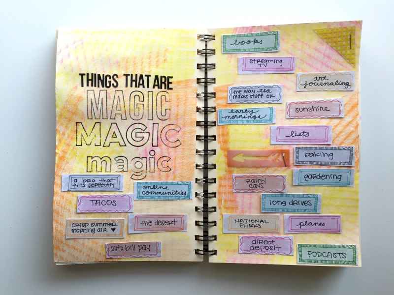 Messy Lists - Art Journaling Meets Creative Journaling Challenge - Campfire Chic