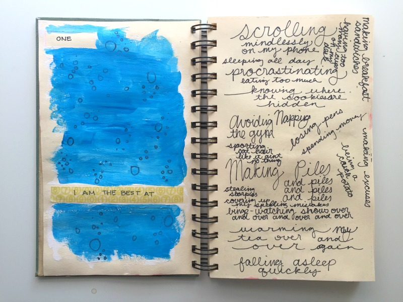 Messy Lists Creative Art Journal Challenge Co-Hosted by 30 Days of Lists - Campfire Chic