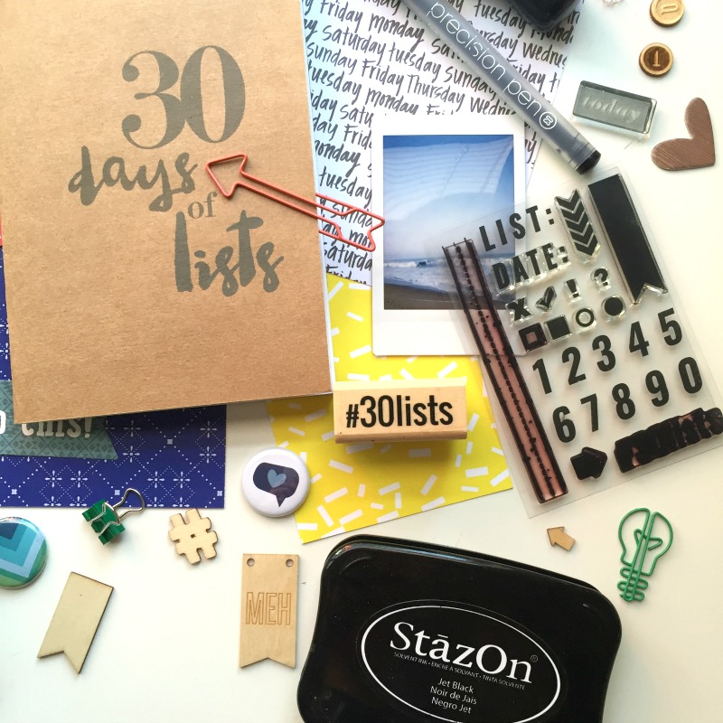30 Days of Lists Returns September 2016 - Campfire Chic