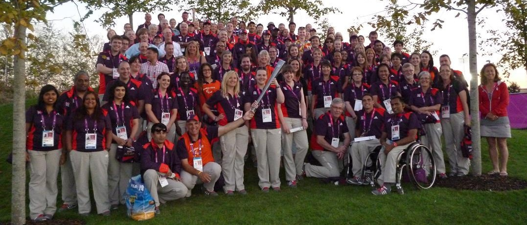 Eton Manor Gamesmakers camping with Campingninja during London 2012 Olympics