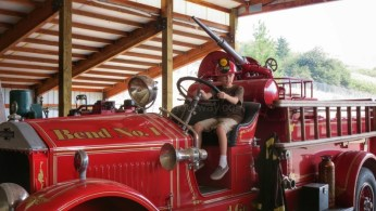 Al was nice enough to let Dillon sit in the firetruck