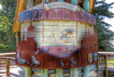Cape Meares welcome sign