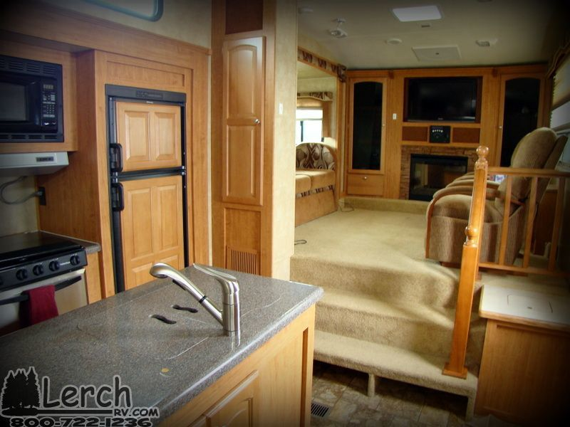 Front Living Room Used 2011 Forest River Wildcat 343FLR fifth - front living room fifth wheel