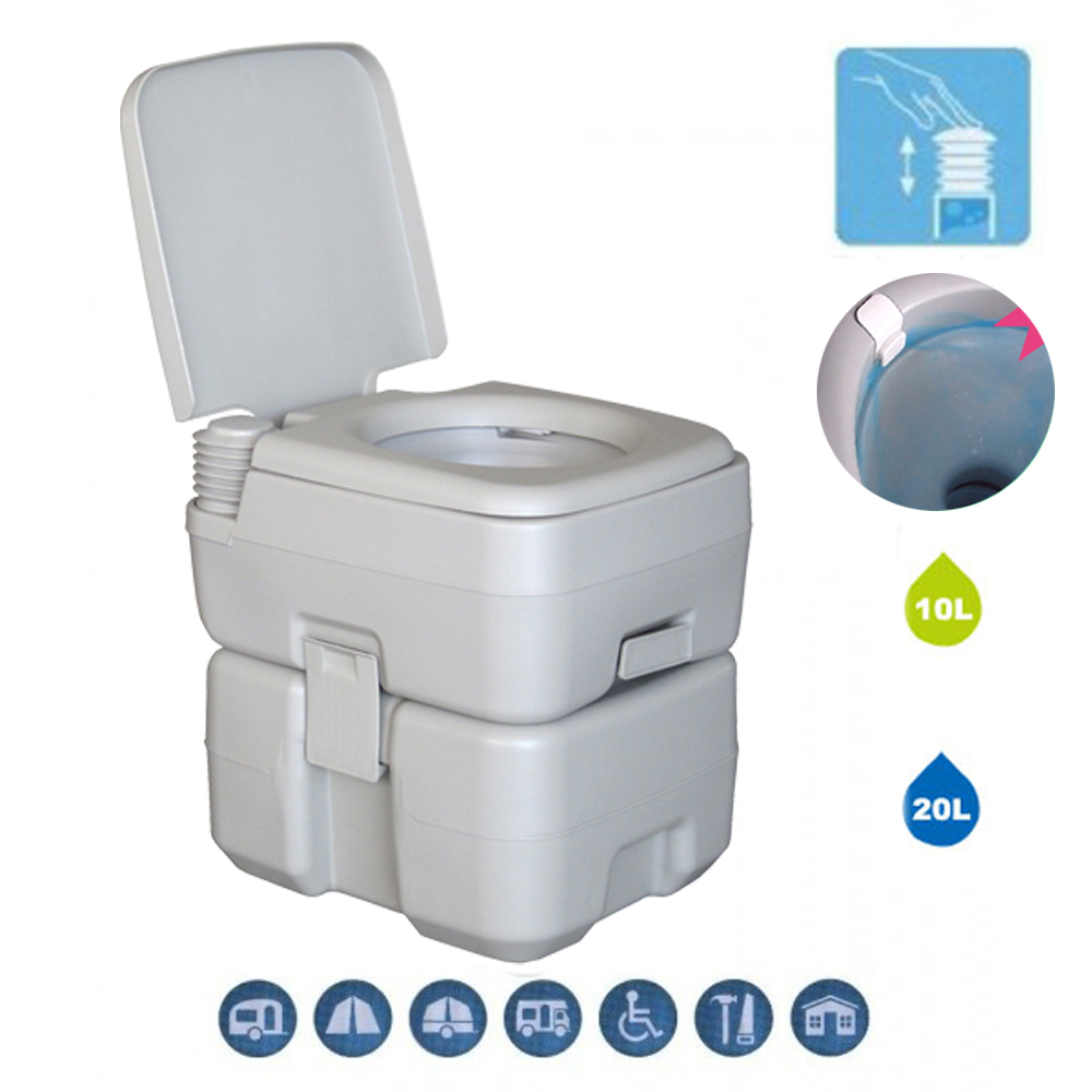 Camping Toilet Details About Portable 20l Camping Toilet Flush Potty With Hand Wash Sink Basin Stand Outdoor