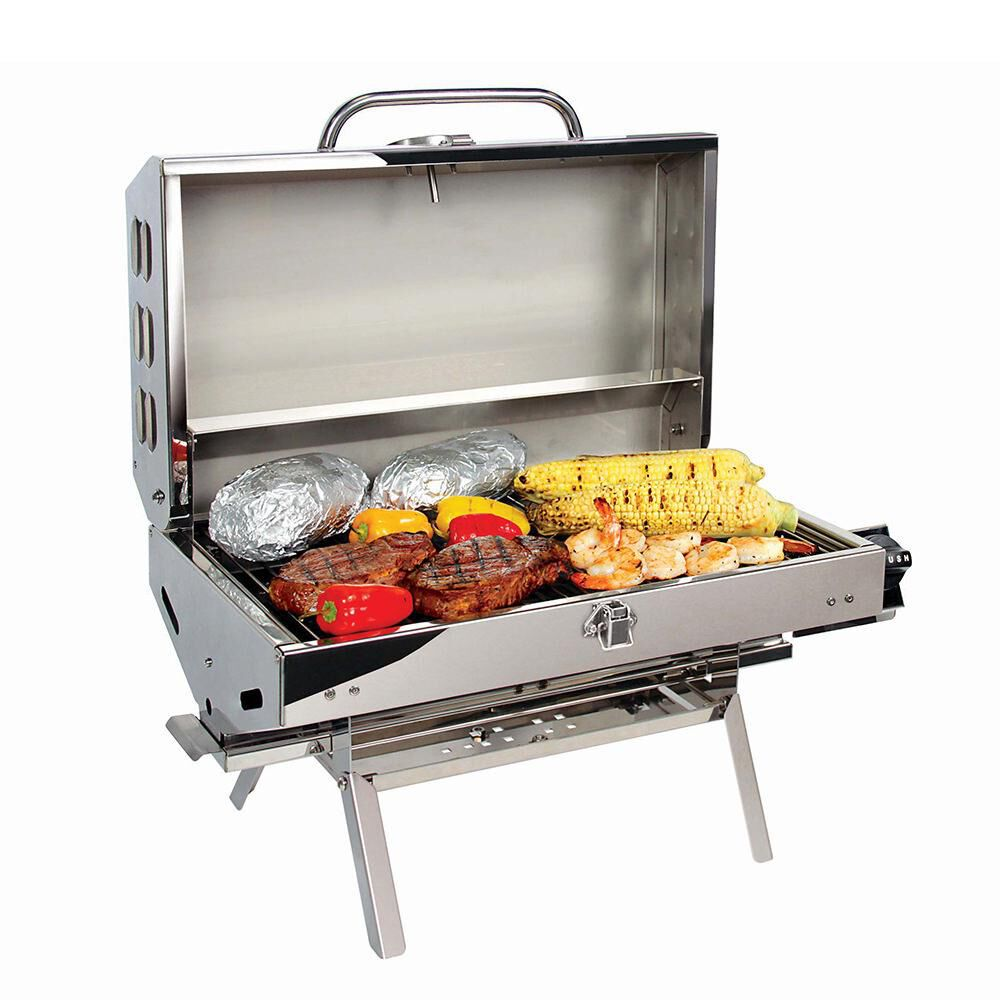 Grill Camping Camco 5500 Stainless Steel Rv And Outdoor Grill