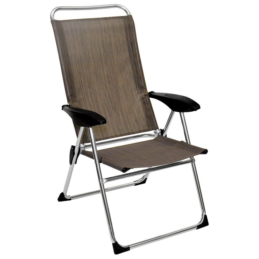 Collapsible Chair Lightweight Adjustable Folding Arm Chair