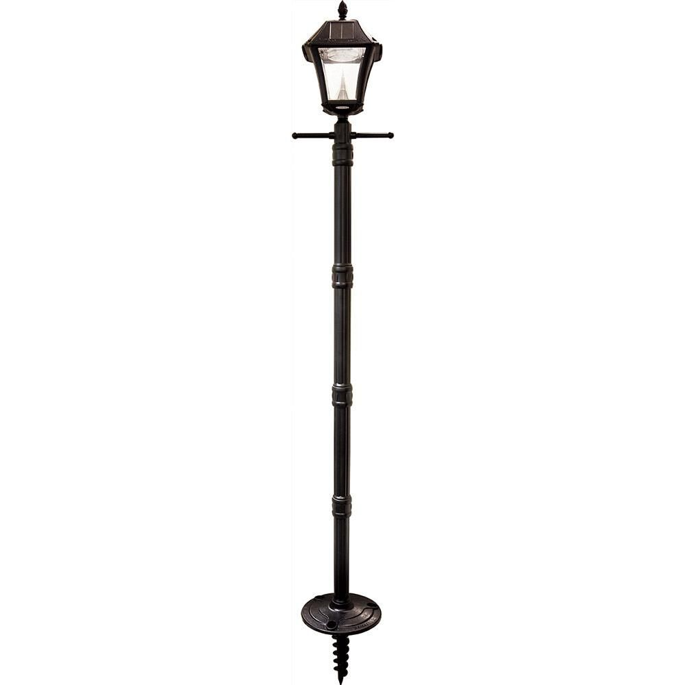 Solar Lamp Post Baytown Ii Solar Lamp Post With Ez Anchor Black Finish