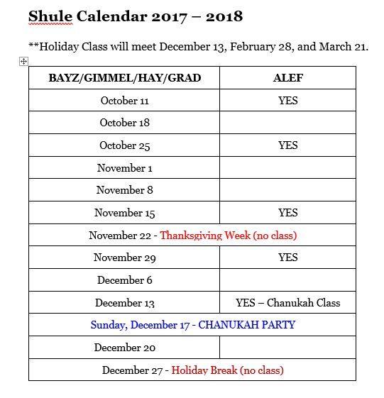 Calendar Camp Kinderland