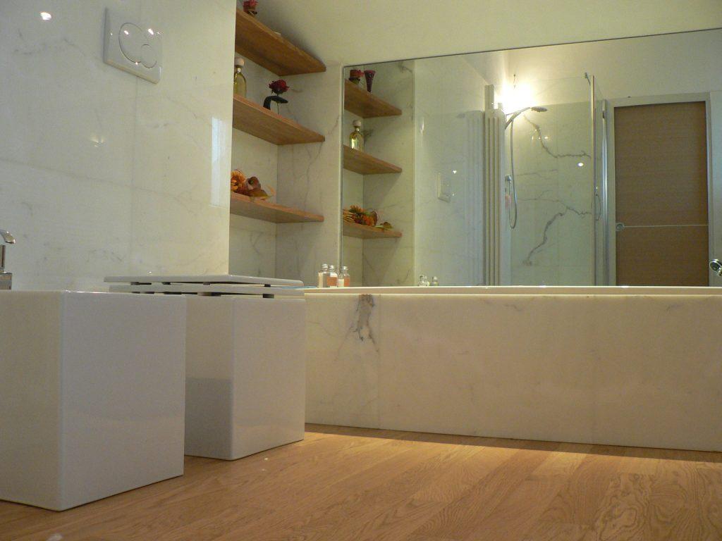 Bagno effetto marmo evolutionmarble rivestimento effetto marmo