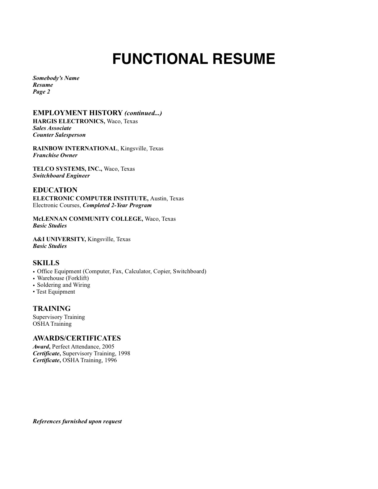 Chronological Resume Definition Format Layout 103 What Is The Resume Format For You Campus Job Xpress