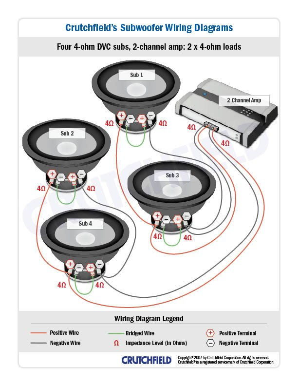With Car Stereo Wiring Diagram Likewise 4 Ohm Speaker Wiring Diagram