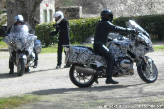 BMW has covered the bike in camo paint to throw people off. Photo: Motomag
