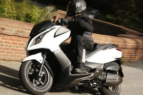 You can actually have a fair bit of fun in the twisties with the Kymco, as its handling is quite decent. Photo: Kymco