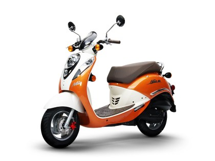 The Mio 50 is built around a four-stroke motor.