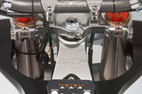 While the motor is smaller than much of the big-bore adventure bike competition, the GP450 is packed with plenty of other technology to keep users happy.