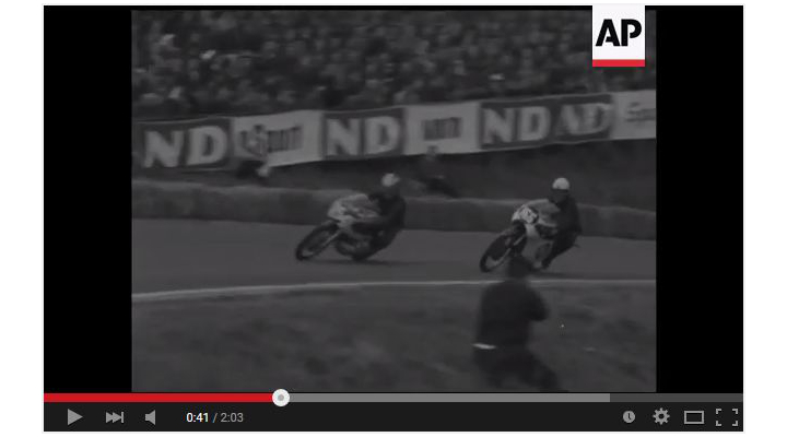 AP video archive release offers vintage motorcycle footage, including lots of racing