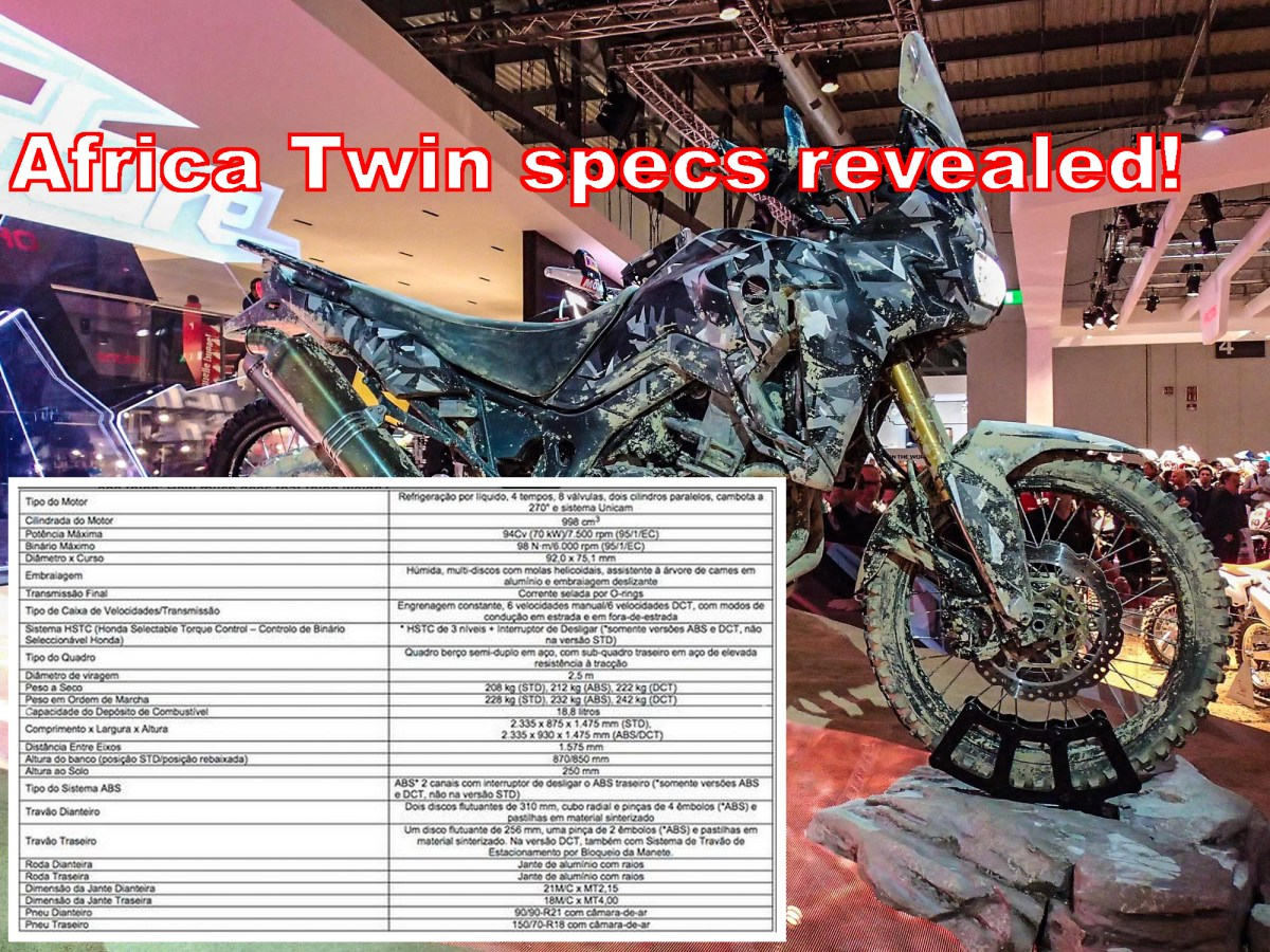 Specifications of Honda Africa Twin leaked