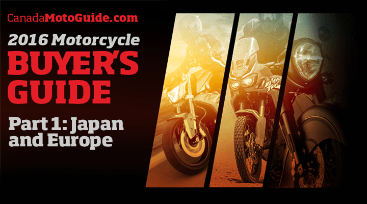 CMG 2016 Motorcycle Buyers Guide launched
