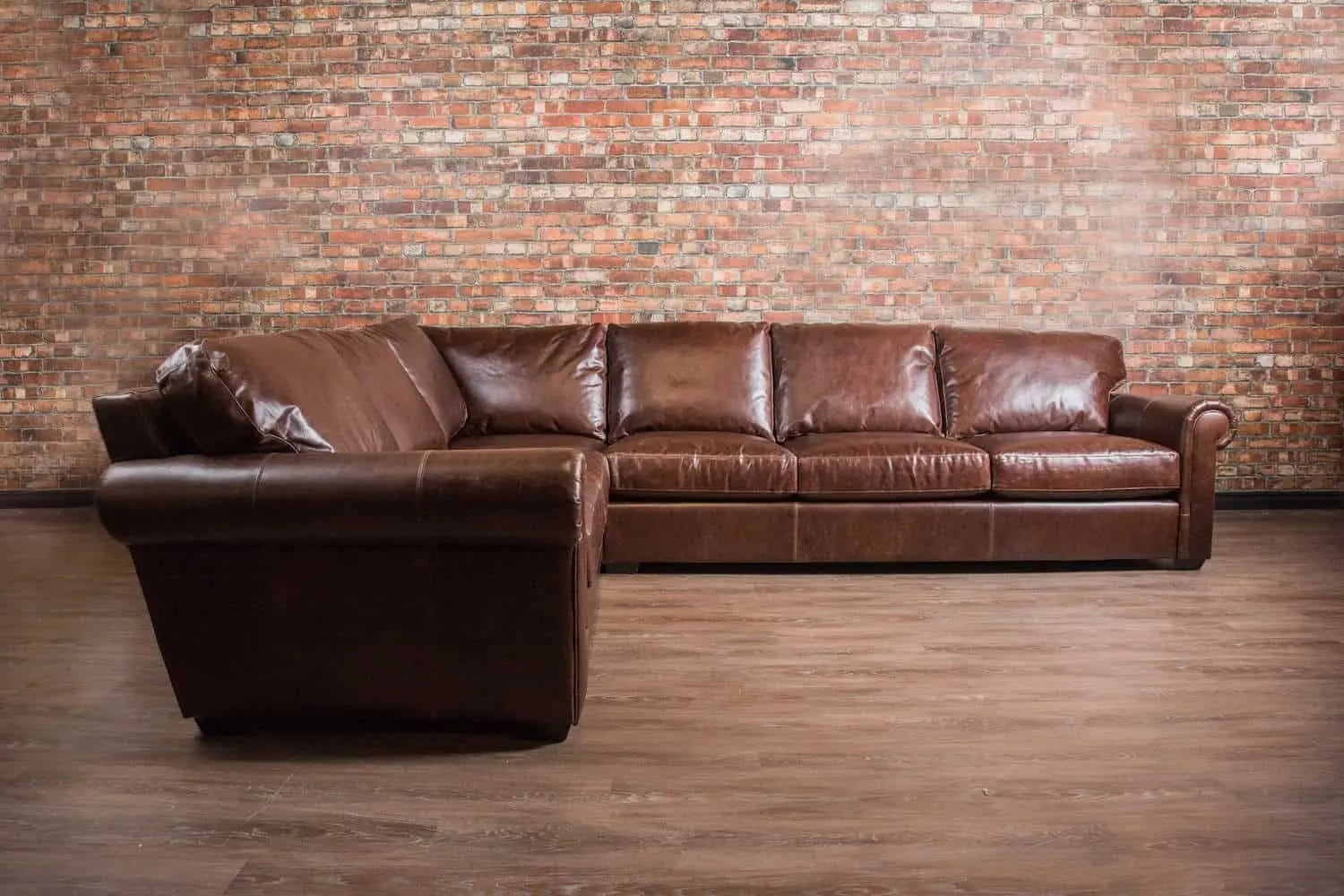 Genuine Leather Sectional Canada The Winchester Grand Leather Sectional