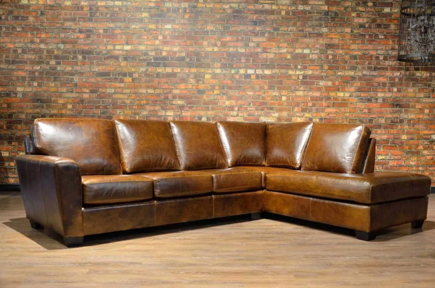 Genuine Leather Sectional Canada The Bolton Leather Sectional