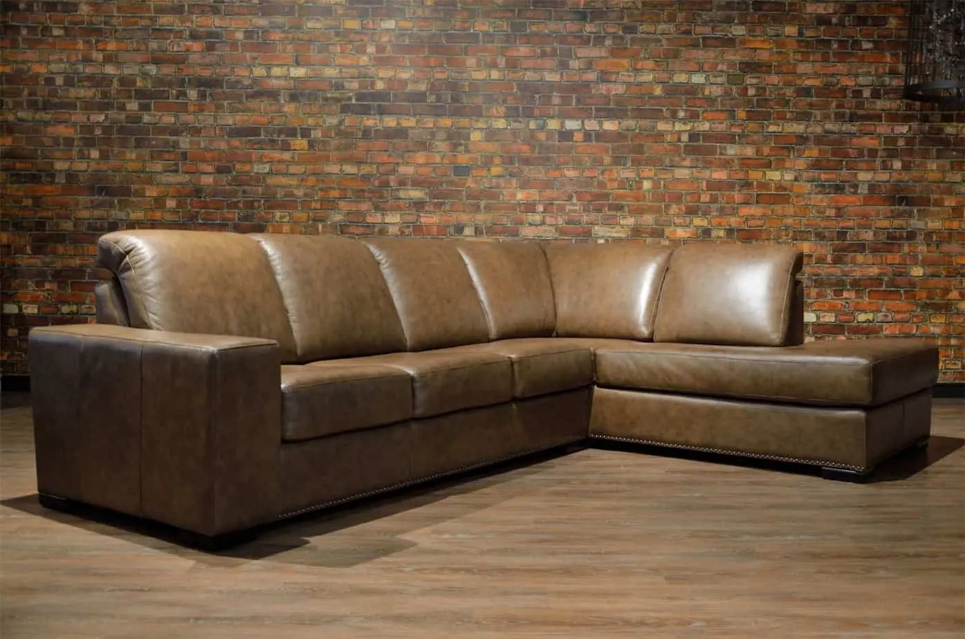 Leather Couch Canada Canadian Sofas The Zeus Leather Sectional Canada S Boss