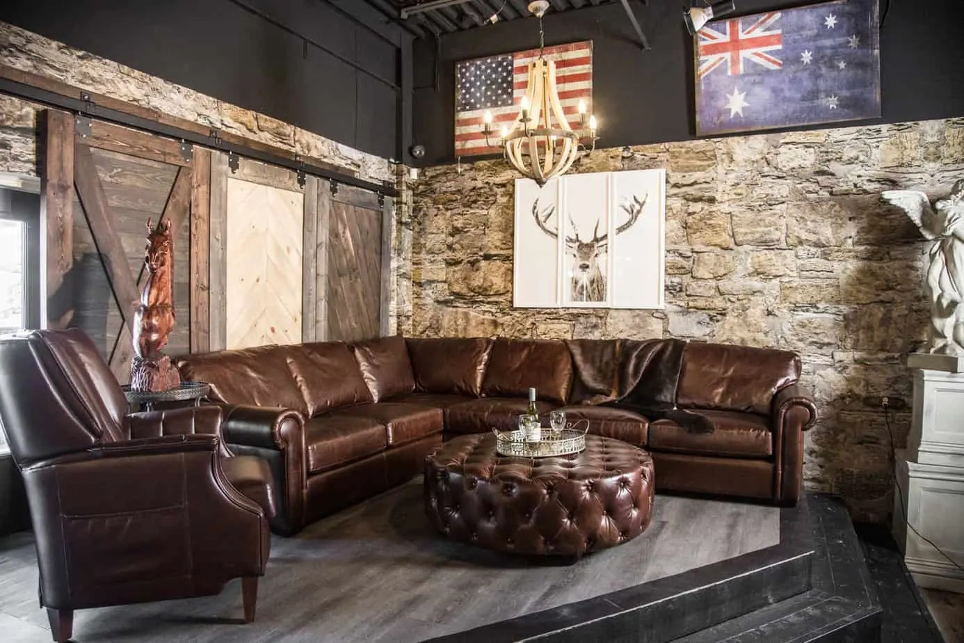 Genuine Leather Sectional Canada The Winchester Grand Leather Sectional Lhf