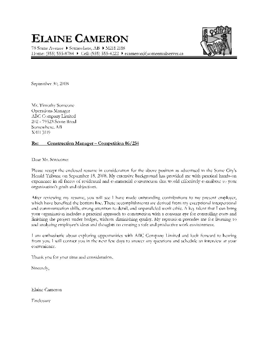 construction resume sample canada
