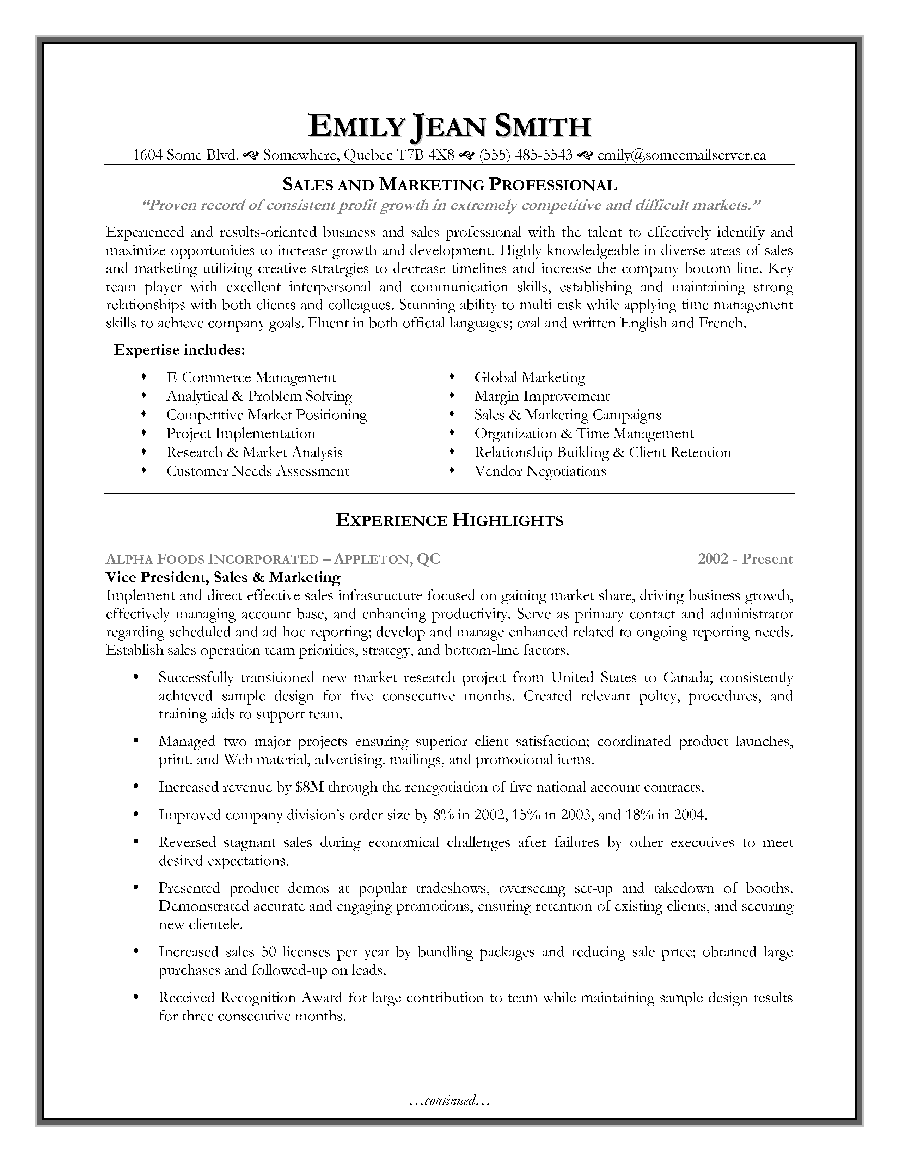 management resume keywords sales marketing resume sample page 1